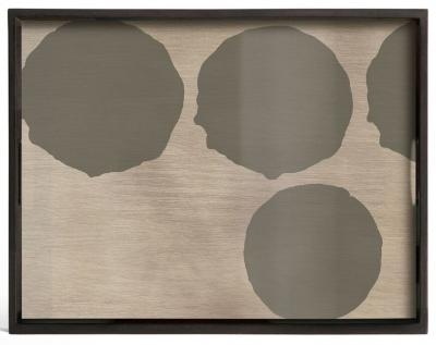 Notre Monde Silver Dots Small Rectangular Glass Tray