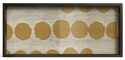Notre Monde Sienna Dots Medium Rectangular Glass Tray