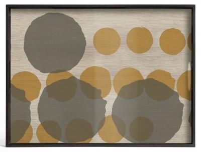 Notre Monde Sienna Layered Dots Large Rectangular Glass Tray
