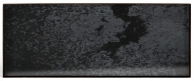 Notre Monde Charcoal Heavy Aged Black Metal Rim Large Rectangular Mirror Tray (Set of 5)
