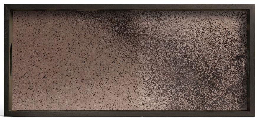 Notre Monde Bronze Heavy Aged Medium Rectangular Mirror Tray