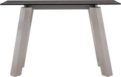 Agata Console Table - Grey Ceramic and Chrome