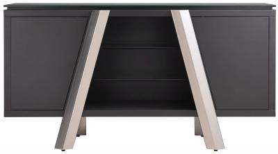 Agata Sideboard - Grey Ceramic and Chrome