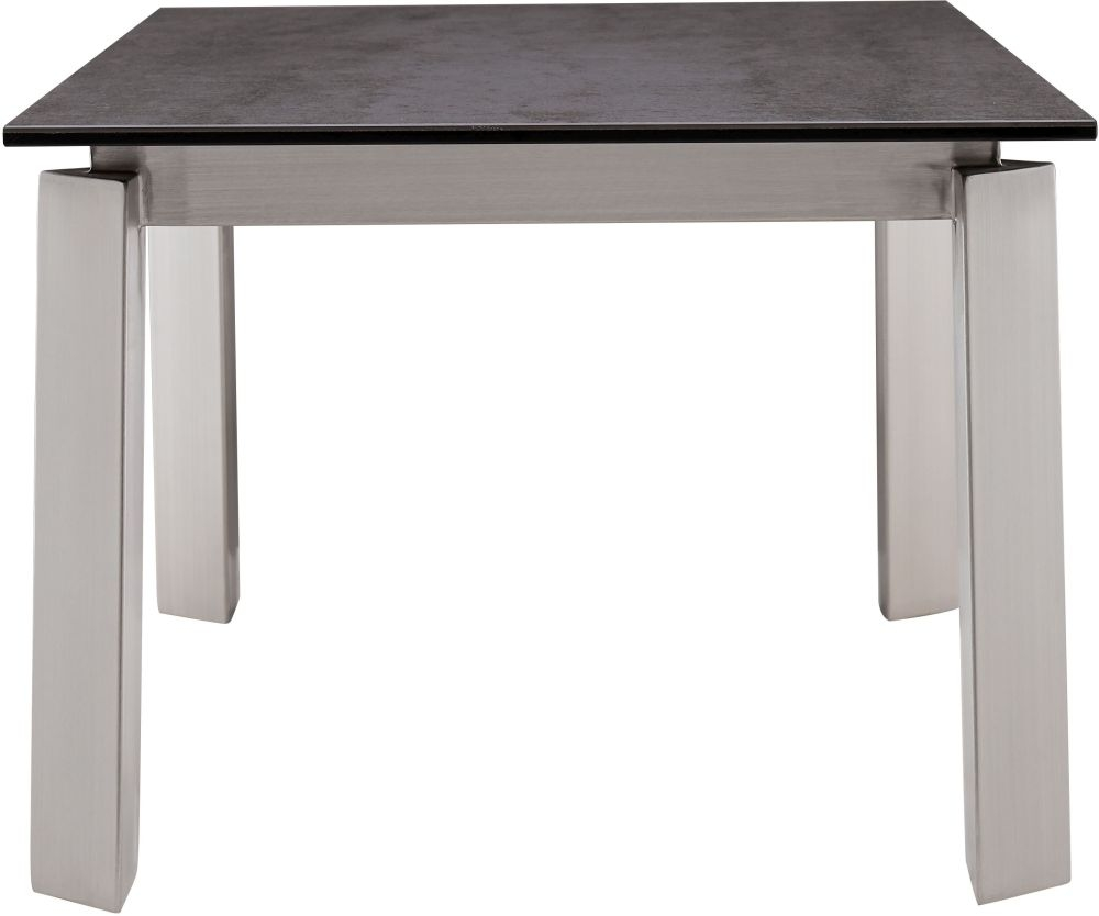 Glass Coffee Table With Stainless Steel Legs: Buy Agata Grey Ceramic And Glass Top Side Table With