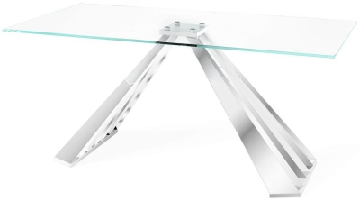 Alvaro Dining Table - Glass and Chrome