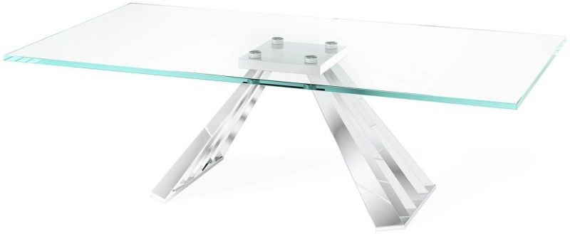 Alvaro Coffee Table - Glass and Chrome