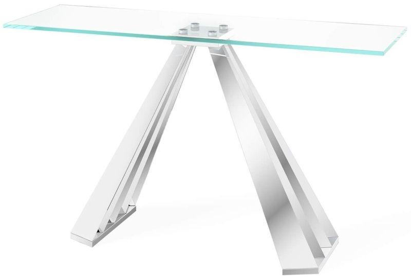Alvaro Console Table - Glass and Chrome thumbnail