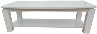 Azure White High Gloss Coffee Table