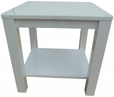 Azure White High Gloss Side Table