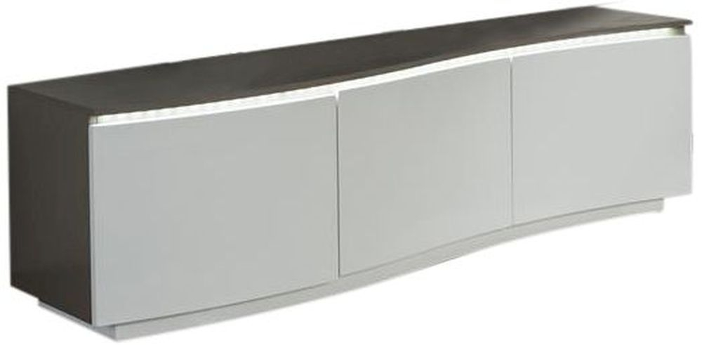 Azure White High Gloss TV Unit Glass Top and LED