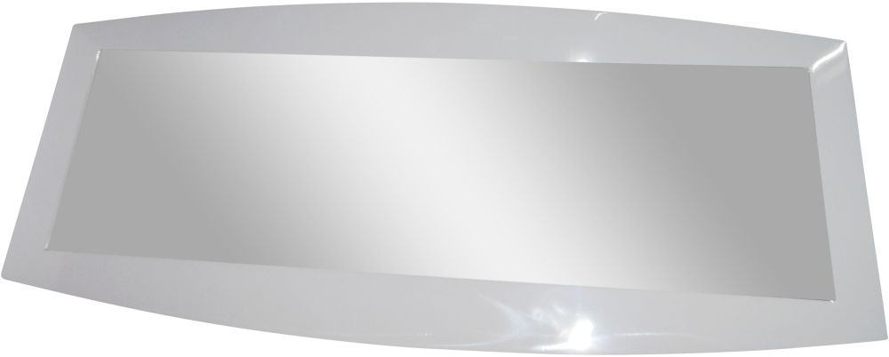 Azure White High Gloss Wall Mirror