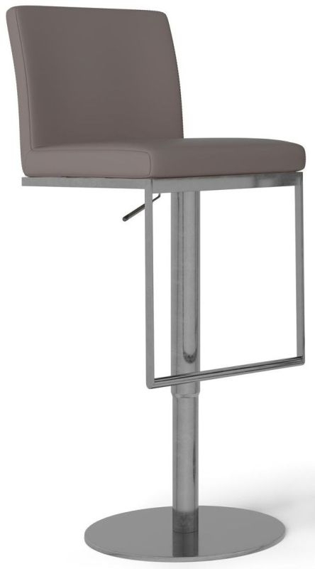 Enzo Taupe Gas Lift Bar Stool