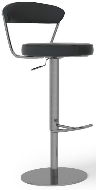 Gino Black Gas Lift Bar Stool