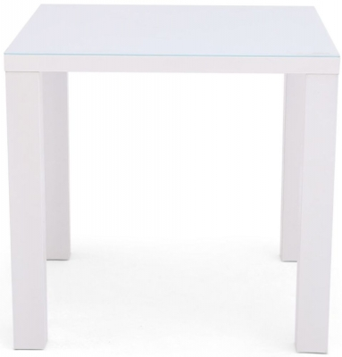 Blanca White High Gloss Square Dining Table