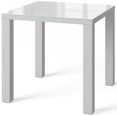 Blanca Grey High Gloss Square Dining Table
