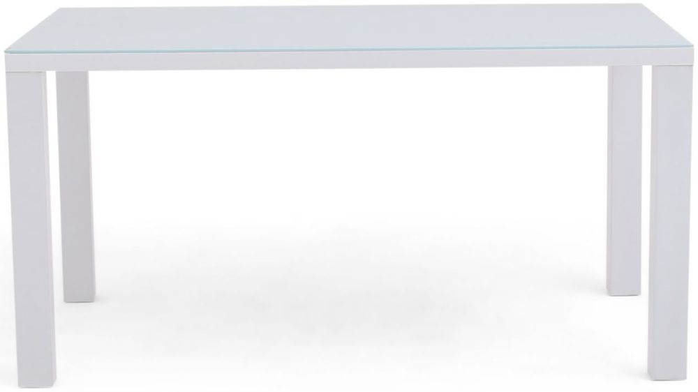 Blanca White High Gloss Large Dining Table