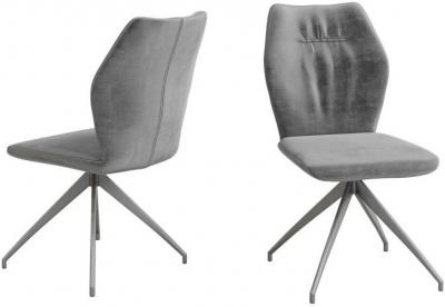 Sena Dark Grey Velvet Dining Chair (Pair)