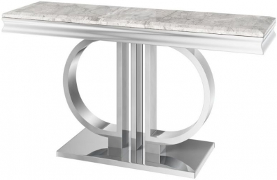 Donatello Light Grey Marble Console Table