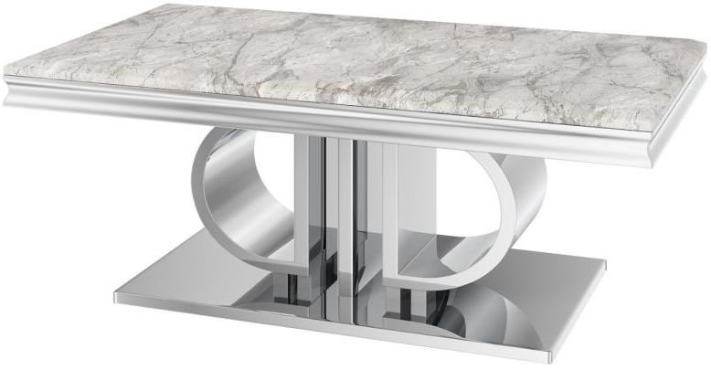 Donatello Light Grey Marble Coffee Table