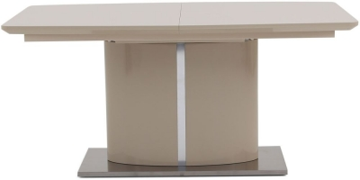 Flavio Cream High Gloss Butterfly Extending Dining Table