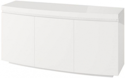 Florence White High Gloss 3 Door Sideboard with LED Light