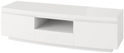 Florence White High Gloss Entertainment Unit with LED Light