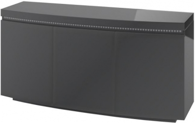 Florence Grey High Gloss 3 Door Sideboard with LED Light