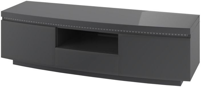 Florence Grey High Gloss Entertainment Unit with LED Light
