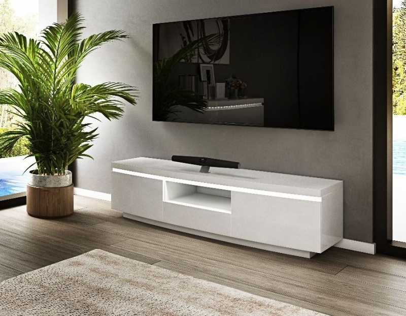 Florence White High Gloss Entertainment Unit