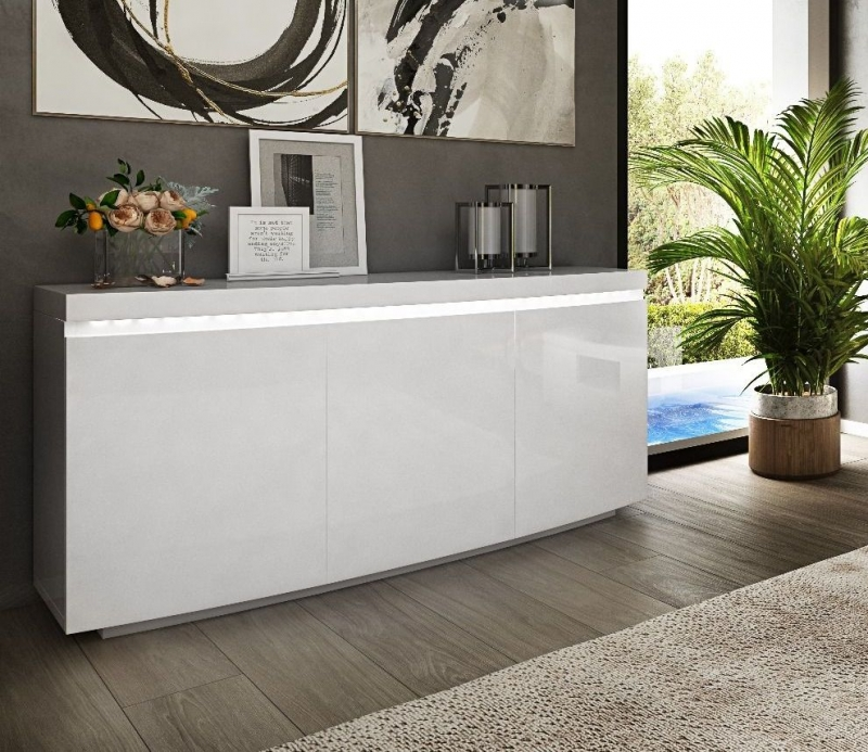Florence White High Gloss Sideboard