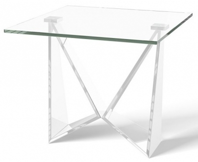 Florentina Side Table - Glass and Chrome