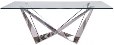 Florentina Coffee Table - Glass and Chrome