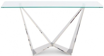 Florentina Console Table - Glass and Chrome