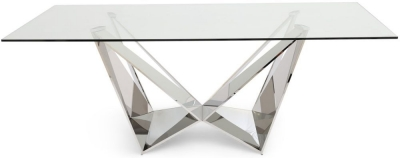 Florentina Dining Table - Glass and Chrome