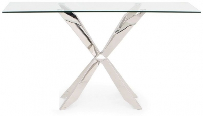 Gabriella Console Table - Glass and Chrome