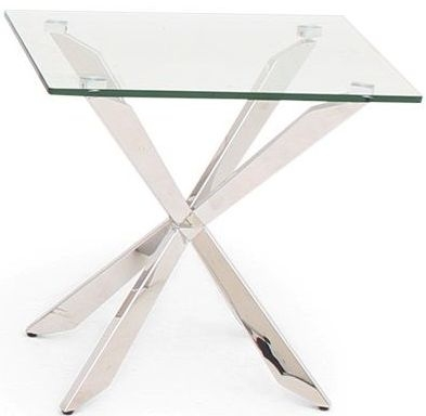 Gabriella Side Table - Glass and Chrome