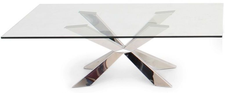 Gabriella Coffee Table - Glass and Chrome
