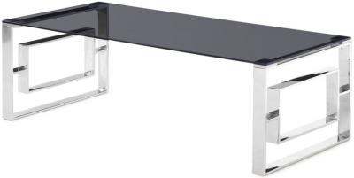 Harrera Coffee Table - Smoked Glass and Chrome