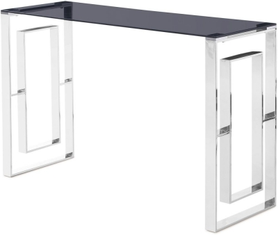 Harrera Console Table - Smoked Glass and Chrome