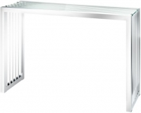 Horizon Glass and Chrome Console Table