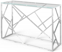 Kieta Console Table - Glass and Chrome
