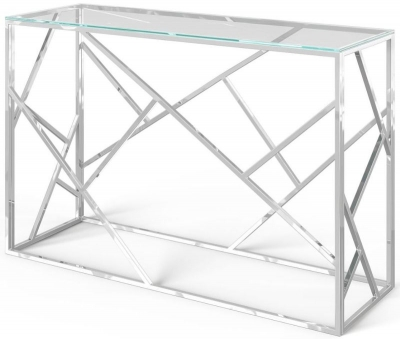Kieta Glass and Chrome Console Table