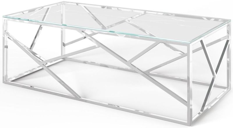 Kieta Coffee Table - Glass and Chrome