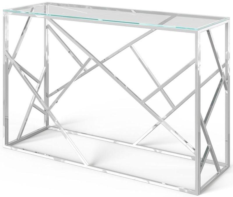 Kieta Console Table - Glass and Chrome