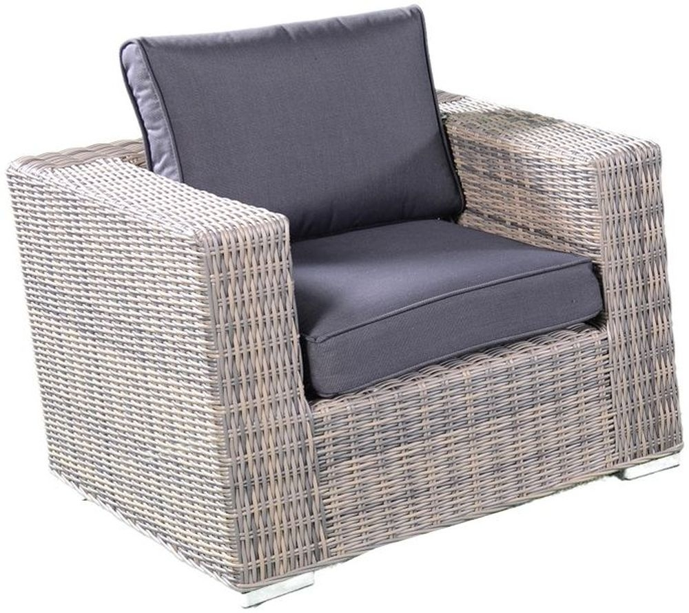 Knightsbridge Grey Rattan Armchair Sofa