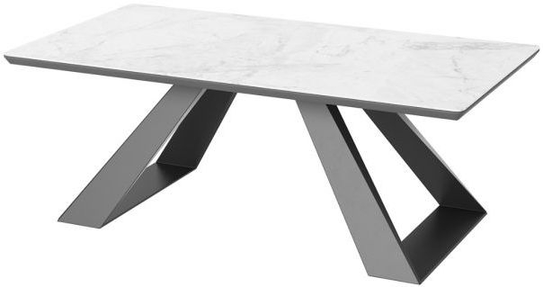 Lavante Light Grey Marble Effect Glass Top Coffee Table