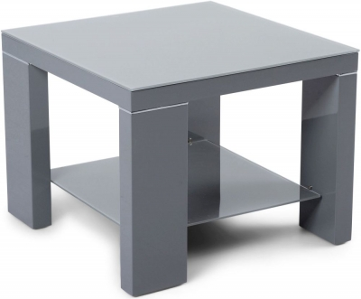 Lucca Grey High Gloss Side Table