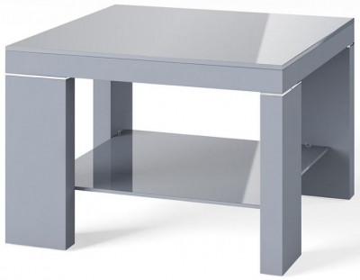 Lucca Dark Grey High Gloss Side Table
