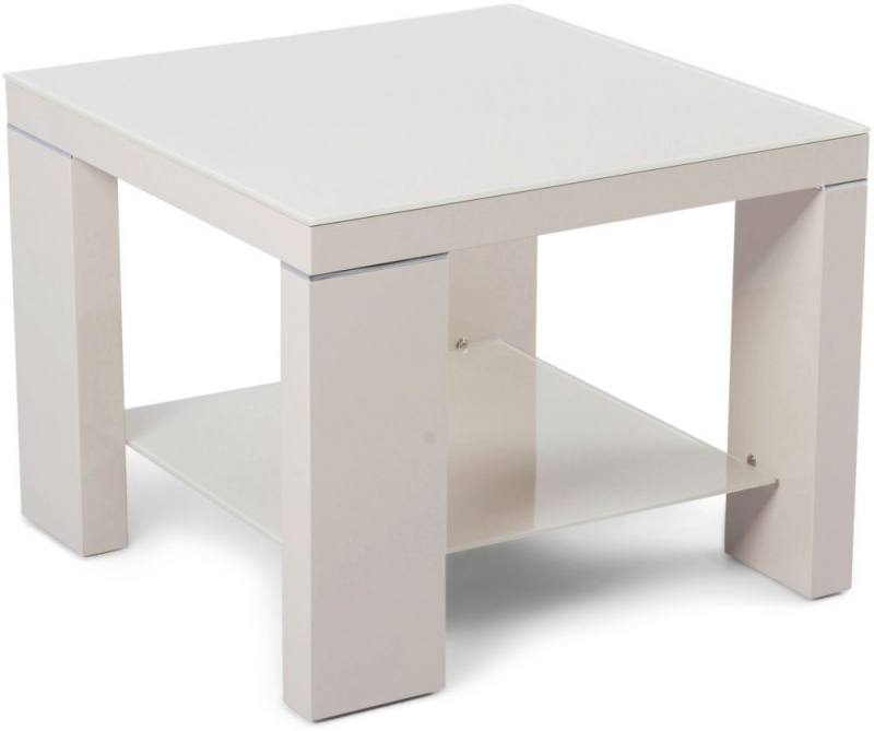 Lucca Cream High Gloss Side Table