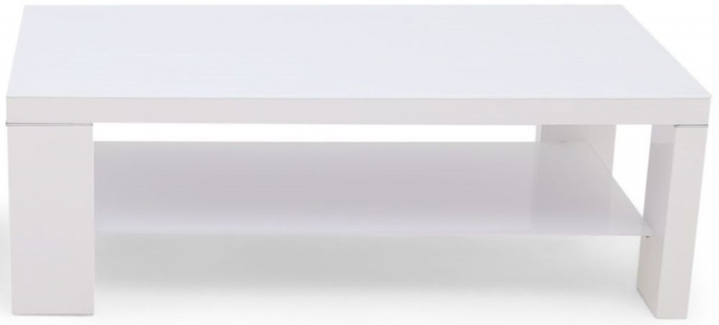 Lucca White High Gloss Coffee Table